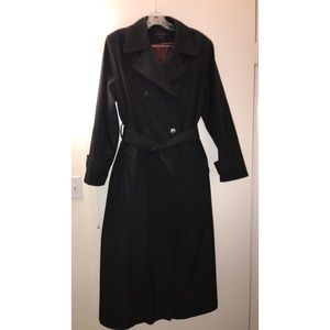 Anne Klein Black Trench Rain Coat
